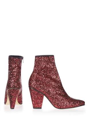 sparkling ankle boots